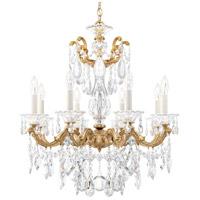 Schonbek 5073-26A La Scala 8 Light 25 inch French Gold Chandelier Ceiling Light in Spectra