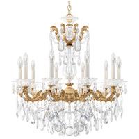 Schonbek 5074-26A La Scala 10 Light 28 inch French Gold Chandelier Ceiling Light in Spectra