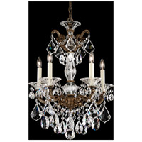 La Scala 5 Light 17 inch Midnight Gild Chandelier Ceiling Light in Clear Swarovski
