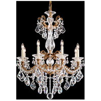 La Scala 8 Light 25 inch Florentine Bronze Chandelier Ceiling Light in Clear Swarovski