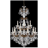 La Scala 15 Light 28 inch Heirloom Bronze Chandelier Ceiling Light in Clear Swarovski
