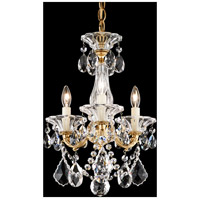 La Scala 3 Light 13 inch Heirloom Gold Semi Flush Mount Ceiling Light in Clear Spectra, Convertible to Pendant