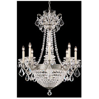 La Scala Empire 10 Light 26 inch Roman Silver Chandelier Ceiling Light in Clear Spectra