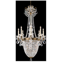 La Scala Empire 11 Light 26 inch Etruscan Gold Chandelier Ceiling Light in Clear Heritage
