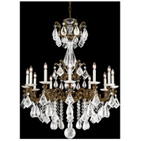 La Scala Rock Crystal 12 Light 33 inch Midnight Gild Chandelier Ceiling Light