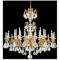 La Scala Rock Crystal 24 Light 46 inch French Gold Chandelier Ceiling Light
