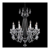 Schonbek Lucia 8 Light Chandelier in Ferro Black and Clear Heritage Handcut Trim LU0002N-59H