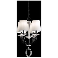 Schonbek MA1004N-55O Emilea 4 Light 17 inch Jet Black Pendant Ceiling Light in Cast Jet Black
