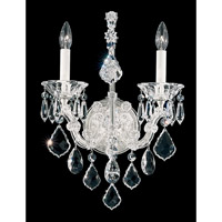 Schonbek Maria Theresa 2 Light Wall Sconce in Silver Leaf 5601-48