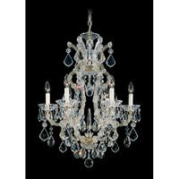 Schonbek Maria Theresa 6 Light Chandelier in Heirloom Silver 5606-44