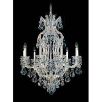 Schonbek Maria Theresa 10 Light Chandelier in Silver Leaf 5609-48