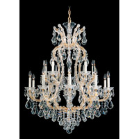 Schonbek Maria Theresa 16 Light Chandelier in French Gold 5615-26