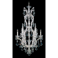 Schonbek Maria Theresa 10 Light Chandelier in Silver Leaf 5620-48