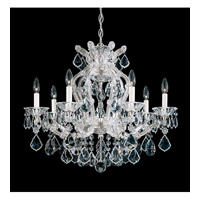 Schonbek Maria Theresa 7 Light Chandelier in Silver Leaf 5625-48