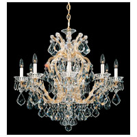 Schonbek Maria Theresa 10 Light Chandelier in French Gold 5626-26