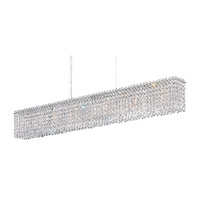 Matrix 6 Light 37 inch Stainless Steel Pendant Ceiling Light in Clear Spectra, Geometrix,Canopy Sold Separately