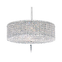Schonbek Matrix 5 Light Pendant in Stainless Steel and Clear Spectra Crysta Trim MC1605A