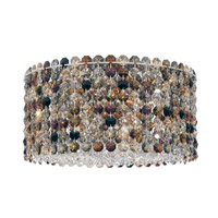 Schonbek Matrix 4 Light Flush Mount in Stainless Steel and Boa Swarovski Elements Trim MCC1005BOA