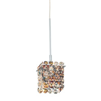 Schonbek Matrix 1 Light Pendant in Stainless Steel and Ocelot Swarovski Elements Trim MT0303OCE