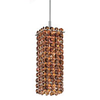 Schonbek Matrix 1 Light Pendant in Stainless Steel and Cognac Swarovski Elements Trim MT0308COG photo thumbnail
