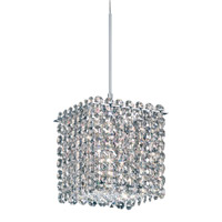 Schonbek Matrix 1 Light Pendant in Stainless Steel and Silver Shade Swarovski Elements Trim MT0505SH photo thumbnail