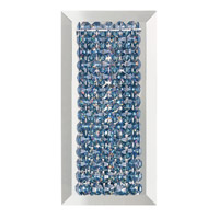 Schonbek Matrix 1 Light Wall Sconce in Stainless Steel and Steel Swarovski Elements Trim MTW0510STE