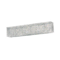 Matrix 4 Light 5 inch Stainless Steel Wall Sconce Wall Light in Clear Swarovski, Geometrix