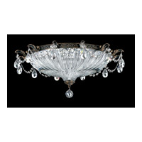 Schonbek Milano 4 Light Flush Mount in Midnight Gild and Silver Shade Swarovski Elements Colors Trim 5635-86SH
