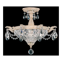 Schonbek Milano 2 Light Semi Flush Mount in Provincial Gold and Clear Spectra Crystal Trim 5648-85A
