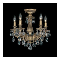 Schonbek Milano 5 Light Semi Flush Mount in Florentine Bronze and Clear Spectra Crystal Trim 5655-83A