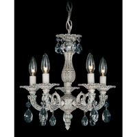 Schonbek Milano 5 Light Chandelier in Cypress and Clear Spectra Crystal Trim 5662-88A photo thumbnail