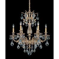 Schonbek Milano 6 Light Chandelier in Florentine Bronze and Clear Spectra Crystal Trim 5676-83A photo thumbnail