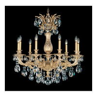 Schonbek Milano 9 Light Chandelier in Parchment Gold and Clear Spectra Crystal Trim 5679-27A