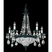 Schonbek Milano 7 Light Chandelier in Ferro Black and Silver Shade Swarovski Elements Colors Trim 5690-59SH photo thumbnail