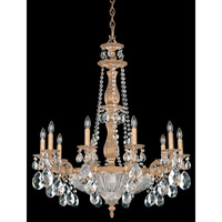 Schonbek Milano 14 Light Chandelier in French Gold and Clear Optic Handcut Trim 5693-26O