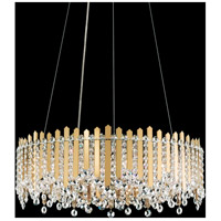 Schonbek MX8343N-301S Chatter 12 Light Gold Mirror Pendant Ceiling Light in Clear Swarovski