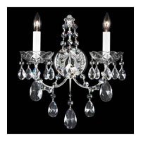 Schonbek Madison 2 Light Wall Sconce in Silver and Clear Heritage Handcut Trim 1586-40H