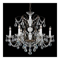 Schonbek Madison 6 Light Chandelier in Etruscan Gold and Clear Heritage Handcut Trim 1592-23H