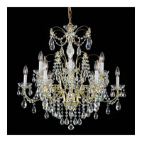 Schonbek Madison 12 Light Chandelier in Gold and Clear Heritage Handcut Trim 1596-20H