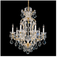 Schonbek 5607-26 Maria Theresa 8 Light 27 inch French Gold Chandelier Ceiling Light
