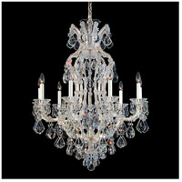 Schonbek 5609-48 Maria Theresa 10 Light 32 inch Antique Silver Chandelier Ceiling Light