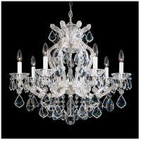 Schonbek 5625-48 Maria Theresa 7 Light 26 inch Silver Leaf Chandelier Ceiling Light in Antique Silver