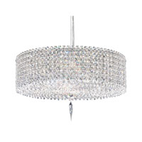 Schonbek Matrix 5 Light Pendant in Stainless Steel and Aqua Swarovski Elements Trim MC1605AQU
