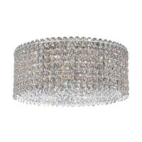 Schonbek Matrix 4 Light Flush Mount in Stainless Steel and Silver Shade Swarovski Elements Trim MCC1205SH