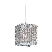 Schonbek Matrix 1 Light Pendant in Stainless Steel and Silver Shade Swarovski Elements Trim MT0505SH
