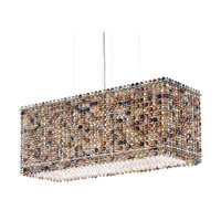 Schonbek Matrix 6 Light Pendant in Stainless Steel and Boa Swarovski Elements Trim MT2209BOA