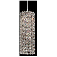 Matrix 1 Light 4 inch Stainless Steel Pendant Ceiling Light in Clear Spectra, Geometrix,Canopy Sold Separately