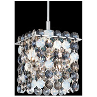 Matrix 1 Light 4 inch Stainless Steel Pendant Ceiling Light in Azurite, Geometrix,Canopy Sold Separately