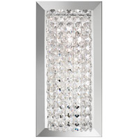 Schonbek MTW0510A Matrix 1 Light 6 inch Stainless Steel Wall Sconce Wall Light in Clear Spectra Geometrix