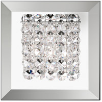Matrix 1 Light 6 inch Stainless Steel Wall Sconce Wall Light in Clear Spectra, Geometrix